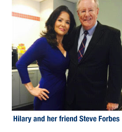 Description: hoto: Hilary with Steve Forbes