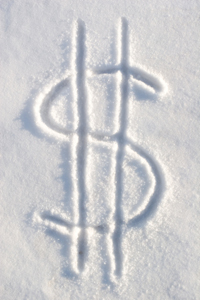 dollar sign in snow 5 Ways to Profit From Snowmageddon